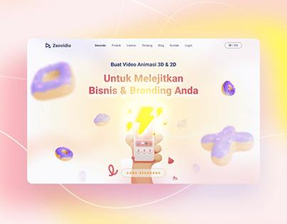 Zenvideo   Redesign Levideo Website   By Zalepik