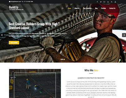 BuildUp WordPress theme