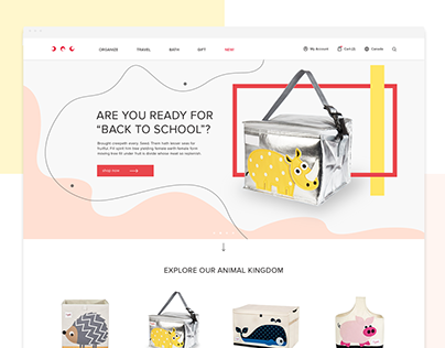 Concept of Children's brand eCommerce website