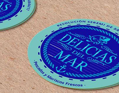 Delicias del Mar - Pendones y Sticker