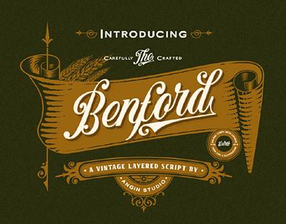 FREE | Benford Vintage Script
