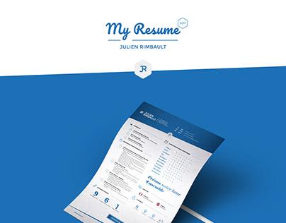 2017 Personnal Resume / CV