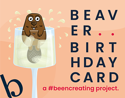 Beaver Birthday Card - Design