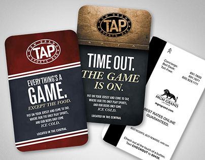 TAP Sports Bar Collateral Design