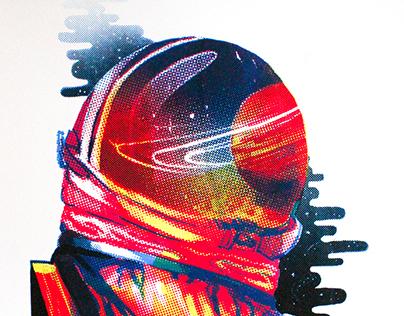 Astronaut Screen Print