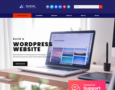 WordPress Website Header with elementor pro