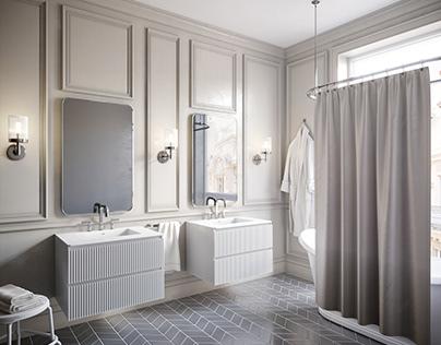 Bathroom visualizations for catalog
