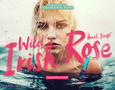Wild Irish Rose Brush font