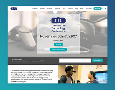 Immersive Technology Conference Website