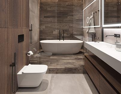 Design project apartments in St. Petersburg. (bathroom)