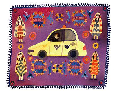 Illustrations for Batenka: Wedding in Tajikistan