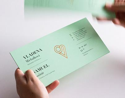 Wedding invitation – S&V