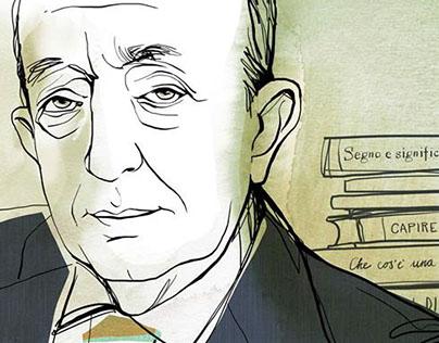 """Tullio de Mauro portrait. """"How to spend it"""""""