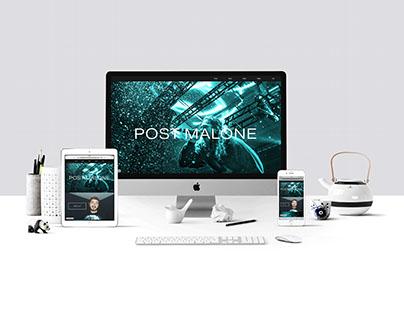 Post Malone - Web Design