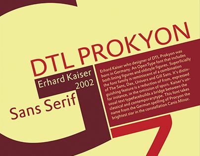 DTL Prokyon Type Specimen