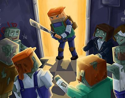 Промо-арт к игре Pixel Shelter: Survival