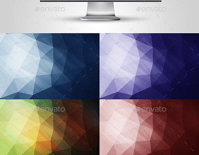 Colarful  Polygon Backgrounds