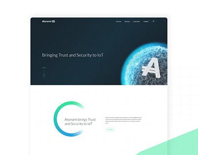 Atonomi Website Design