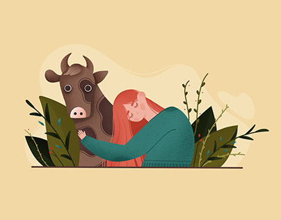 my spotted friend | book illustrations