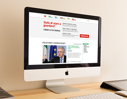 web design for the official mario monti social campaign