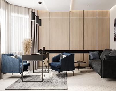Modern interior for big house