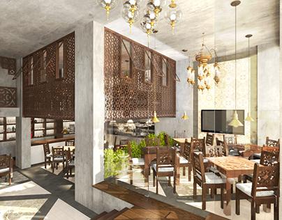 Oriental Restaurant Interior / Exterior Design