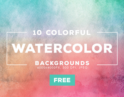 Free Graphic: Watercolor Backgrounds