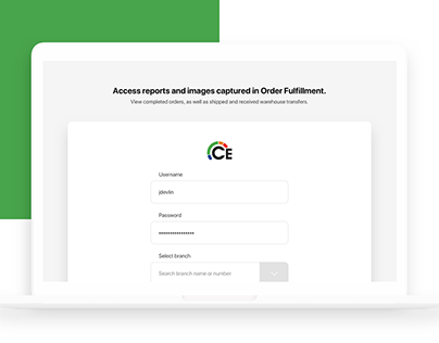 Order Fulfillment   UI/UX 2020 web app branch operation