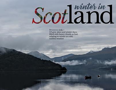 Winter in Scotland Editorial Design