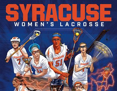 Syracuse Women's Lacrosse 2020 Poster Art