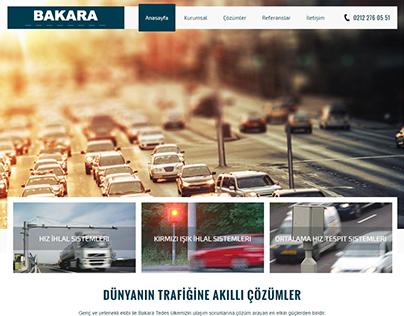 Bakara Tedes website tasarım çalışması