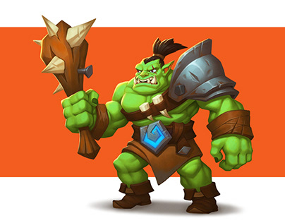 Spine Animation_ Orc Game Motion