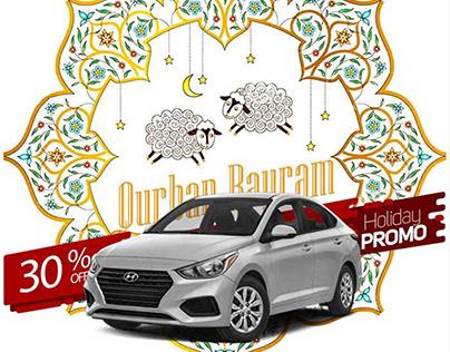Development of banner design for the Gurban Bayram