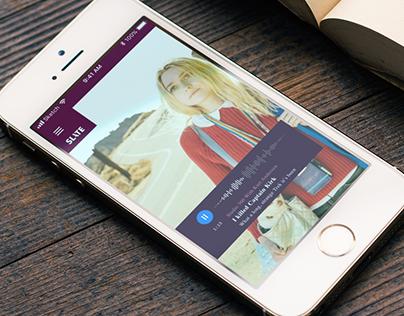 Concept of Mobile App for Slate.com