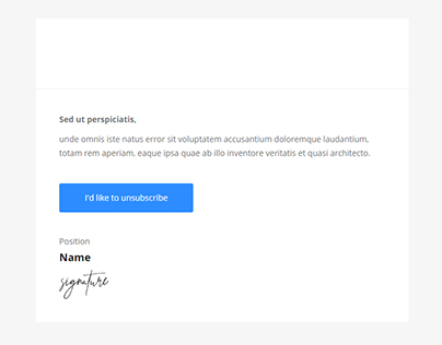 notification sent by email newsletter template