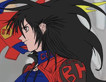 Ryuga Shinohara - Space Age Fighter Chick