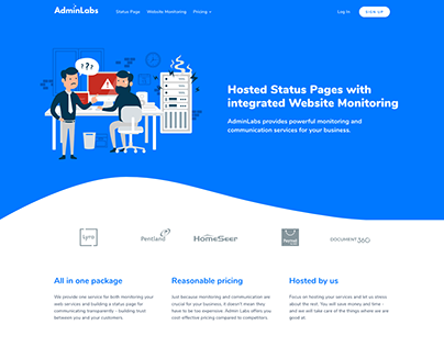 Admin Labs - a marketing website