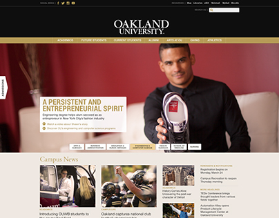 Oakland University Website Landing Pages