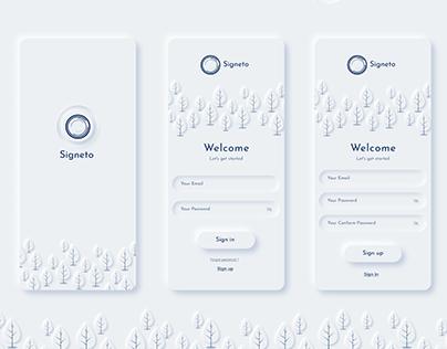 Signeto UI / UX Design