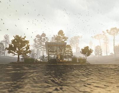 The lake house -o chalé de madeira