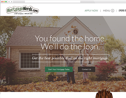 Homepage Redesign (MortgageNerds)
