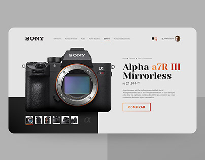 UI Design Concept - Sony Alpha E-Commerce