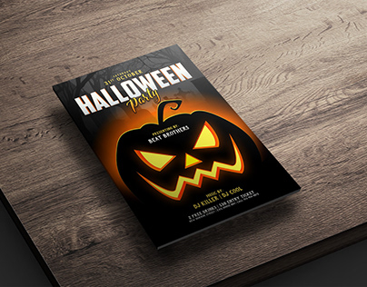Free Halloween Party Poster/ Flyer Design Template PSD