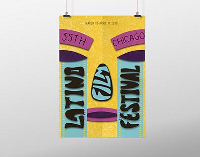 "Плакат для ""Chicago latino film festival 2018"""