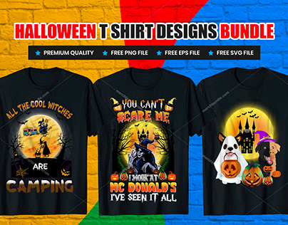 Halloween T-Shirt Designs Bundle