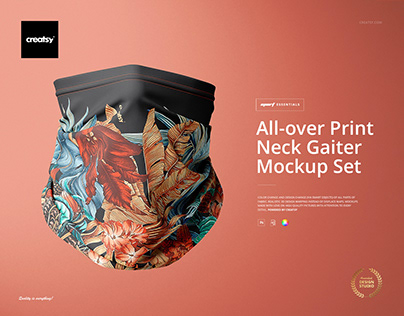 All-over Print Neck Gaiter Mockup Set