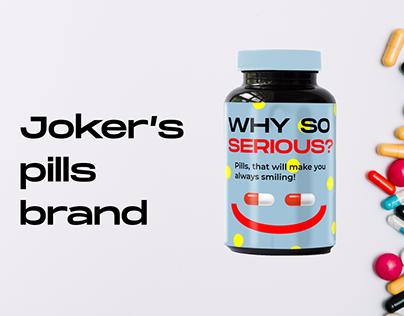 Joker's antidepressant pills brand | web design