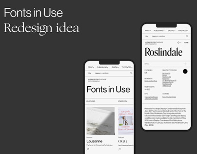 Fonts in Use // redesign