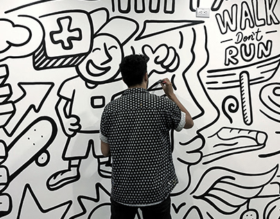 Smile - Doodle Mural