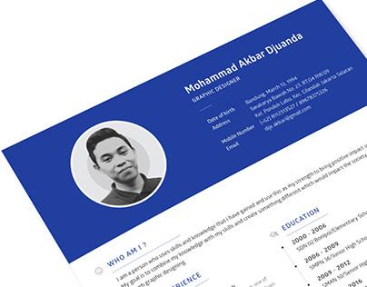 Resume as Graphic Designer